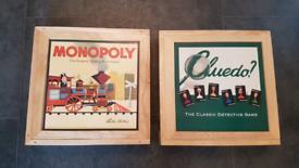 Nostalgia Wooden Monopoly and Cluedo