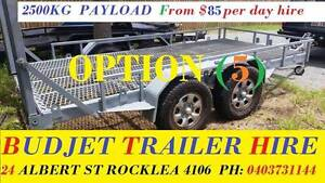 HIRE TRAILER BRISBANE BOBCAT, EXCAVATOR & MACHINERY FROM $85 26# Rocklea Brisbane South West Preview