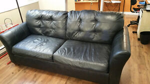 For sale leather couch and tile saw