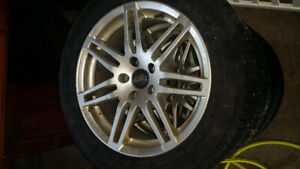 Audi replica rims and winter tires