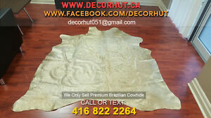 Soft to Touch Natural Shades Cowhide Rug Imported Brazilian West Island Greater Montréal image 4