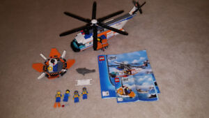 Complete Lego Set - Coast Guard Helicopter & Life Raft (7738)