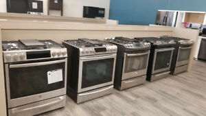 Slide in Stoves Gas, Electric Whirlpool,GE,Frigidaire,Samsung
