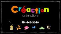 Animateur animatrice maquillage sculpture de ballon fête 35$/H