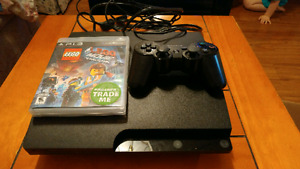 320 gig ps3 and 2 games with 1 controller