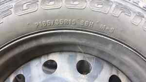 Four used tire with Rim
