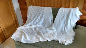 Christening crochet blanket on letf side and other free