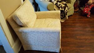 Cream coloured chair