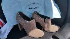 Prada shoes, size 38.5 (which is actually a size 8)