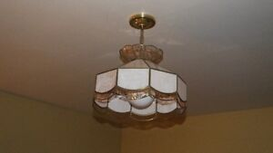 Tiffany stained glass style ceiling light