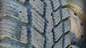Pair of 205/55R16 winter tires on new steel rims VW, $225