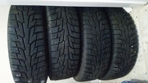 175/70r13 82t studded winter tires on steel 4x100mm rims
