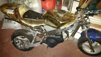 50 cc pocket bike with lots of parts