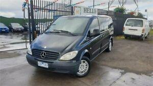2007 Mercedes-Benz Vito 639 MY07 109CDI Compact Crew Cab Black 6 Speed Manual Van Ravenhall Melton Area Preview