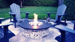 Granite Stone Fire Pits - Natural Gas or Propane ★★FALL SALE★★
