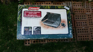 Coleman propane grill and stove good condition