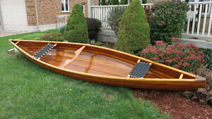 Light Weight 16' Cedar Strip Canoe