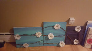 Canvas pieces $20 obo great xmas gifts/home decor