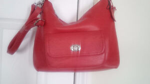 Brand New Leather Red Bag - for trade !