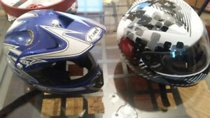 ATV Helmets trade for other gear Youth size 9yr old