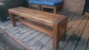 WOOD BENCH,Rustic and Robust