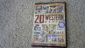 20 WESTERN MOVIES ON DVD'S FOR ONE DOLLAR