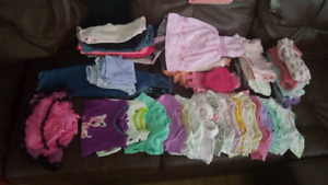 Lot of baby girl clothes, 3-6 and 6 months