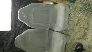 grey high back bucket seats