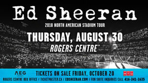 Ed Sheeran  Rare Floor Seats - 3 ROWS FROM THE STAGE!!! - AUG 30