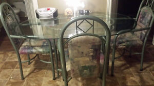 Oval Glass Table for sale