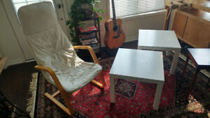 Side tables (two Ikea and one Bombay Company) - $10 each