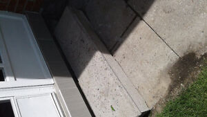 patio slabs and step