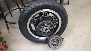 1981 Honda CB 750 Custom - rear wheel - complete