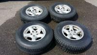 Jeep TJ 5x4.5 OEM 5-spoke rims & good street tires 235/75/15