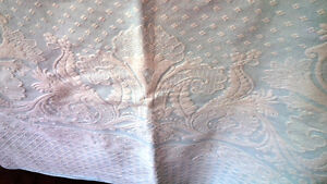 Beautiful Light Blue Bedspread With Brocade Stitching Kitchener / Waterloo Kitchener Area image 3