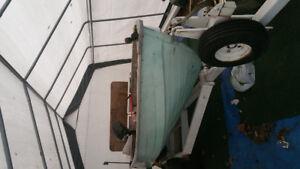 12 foot aluminum boat with 9.8 Mercury
