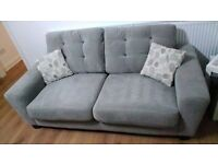3 seater sofa and large footstool (sofaworks pronto sofa)