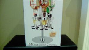 6 Bottle Liquor Carousel