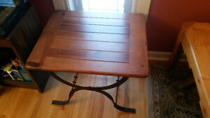 Wrought iron coffee & end table set