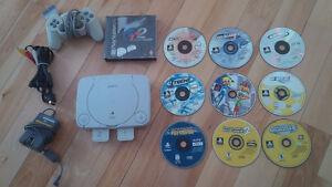Console PS1 slim avec jeux