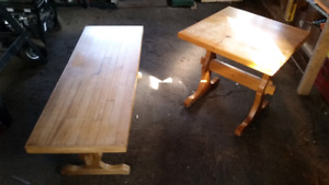 Beautiful Hand Made End Table Reclaimed Hardwood