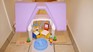 Vintage Little Tikes Playhouse with Accessories