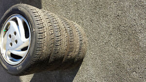 195 60 15 Tires on Ford Escort Alloy Wheels Like New