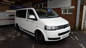 VW T5 6 seat camper van with long warranty!