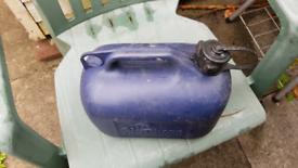 Petrol plastic cans