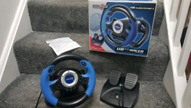 V8 Plus Steering wheel and acceleration/brake foot pedal PS2