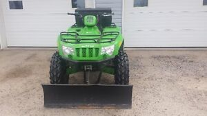 4 wheeler comes with snow plow-lots of new parts