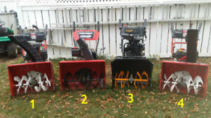 assorted snowblowers for sale!