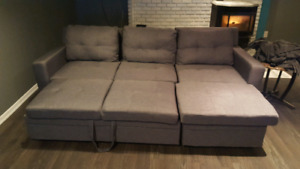 Sofa Bed with Chaige Lounge