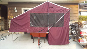 Bunkhouse motorcycle tent trailer